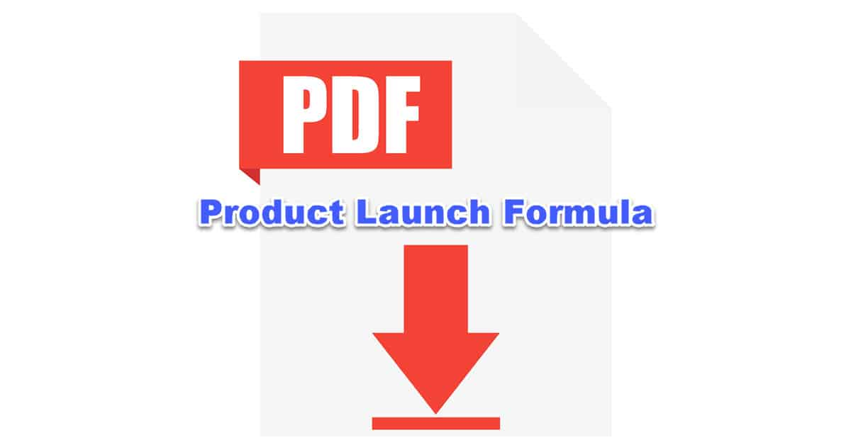 product launch formula blueprint PDF