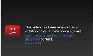 youtube spam scams commercially deceptive
